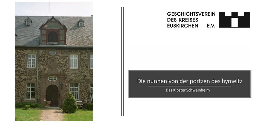 """Vortrag """"Die nunnen von der portzen des hymletz – Das Kloster Schweinheim"""""""